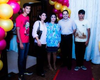 Dr. Fabian and family @ Jay's 1st birthday celebrations.