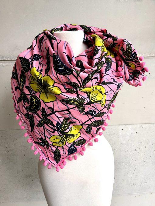 Foulard Pink flowers