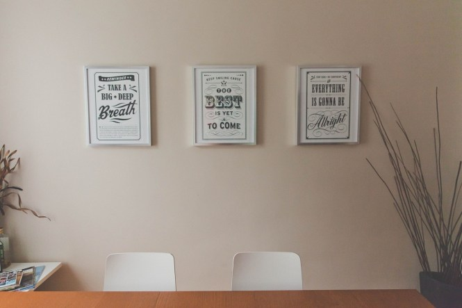 positive thinking slogans in frames
