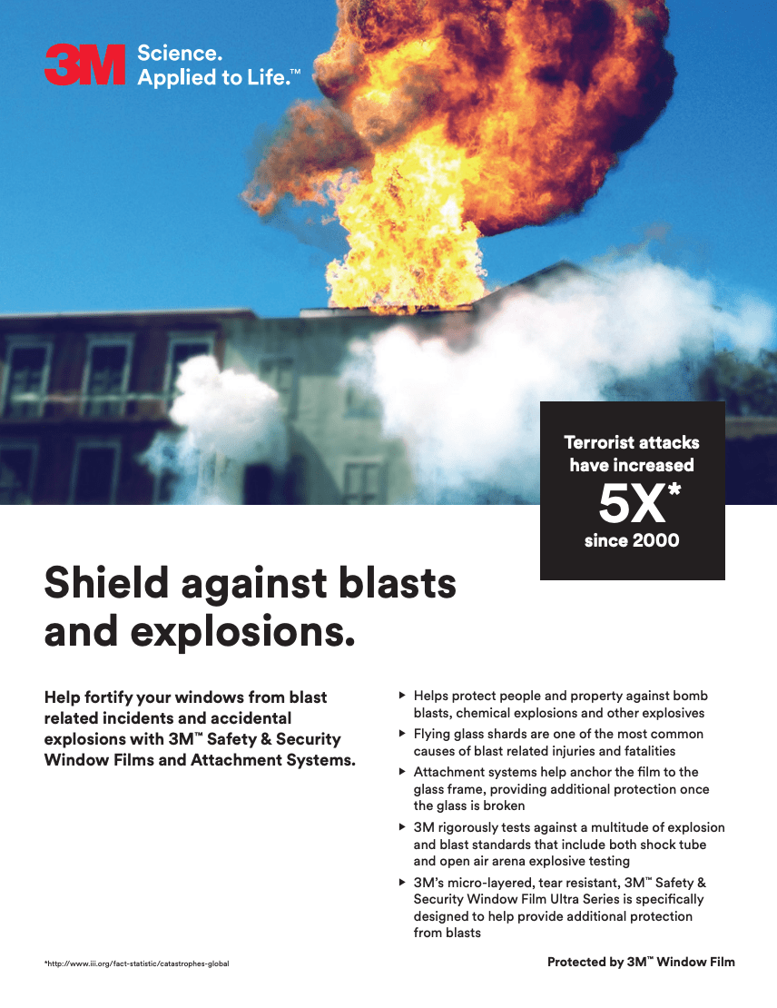 Shield against blasts