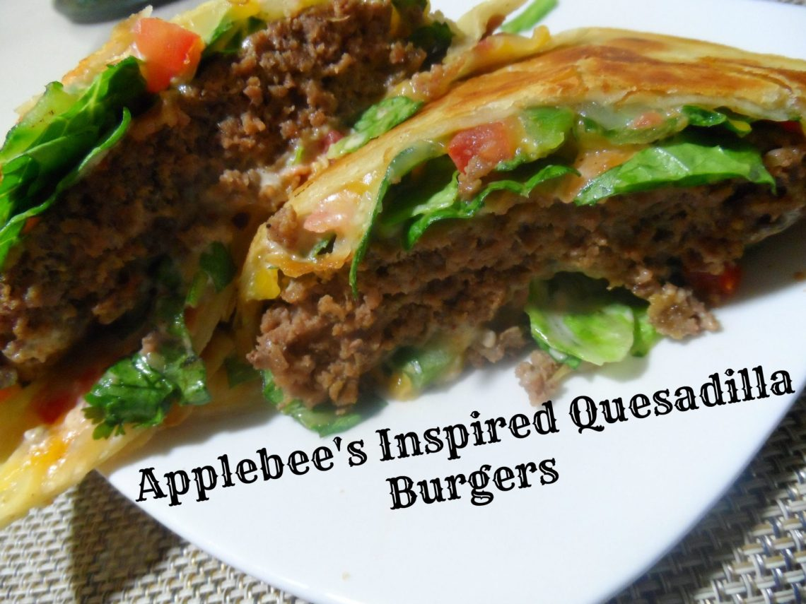 Applebee's Inspired Quesadilla Burgers with Mexi Ranch