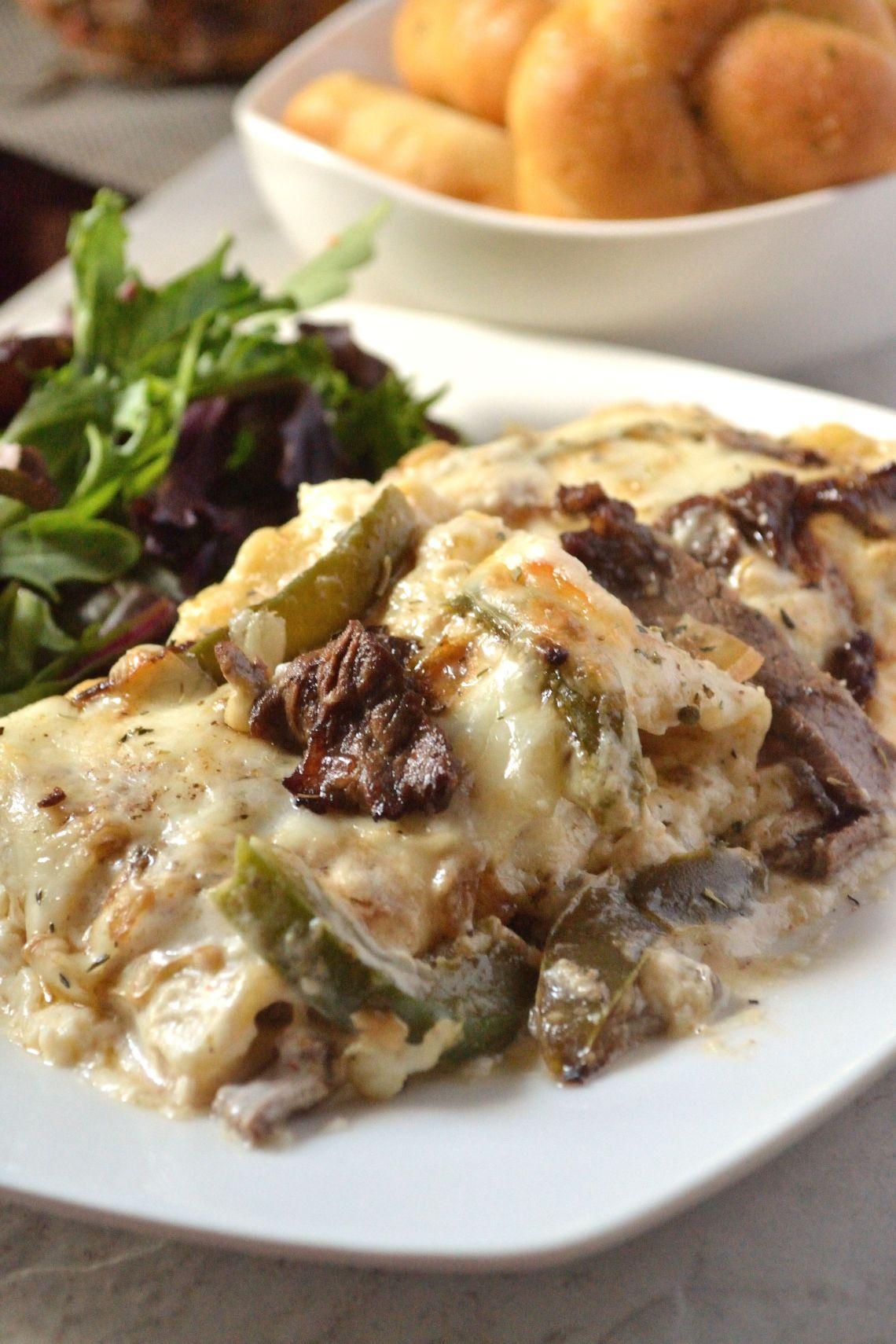 Cheesesteak Stuffed Lasagna