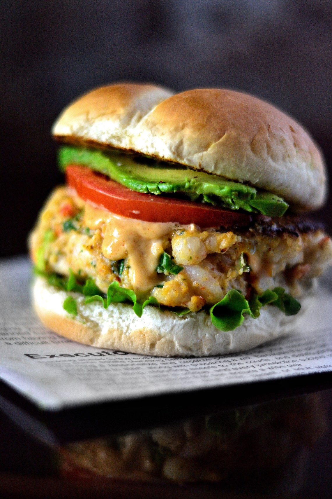 Creole Shrimp Burger Recipe