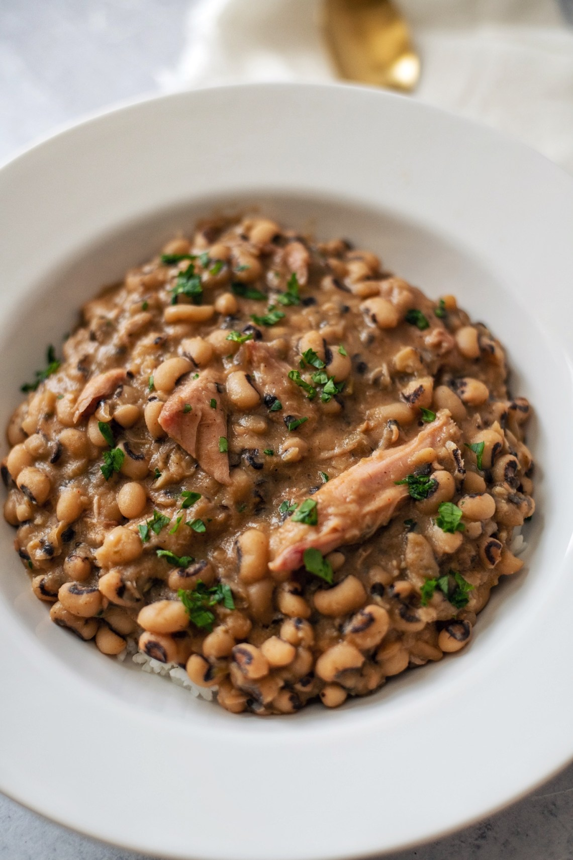 Creamy Black Eyed Peas Recipe