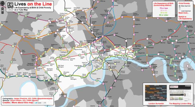 Esperanza de vida al nacimiento y pobreza infantil: visualizaciones en un mapa de Londres africa