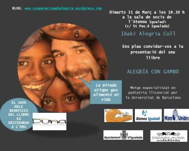 Martes 31 de marzo presentación del libro en Igualada