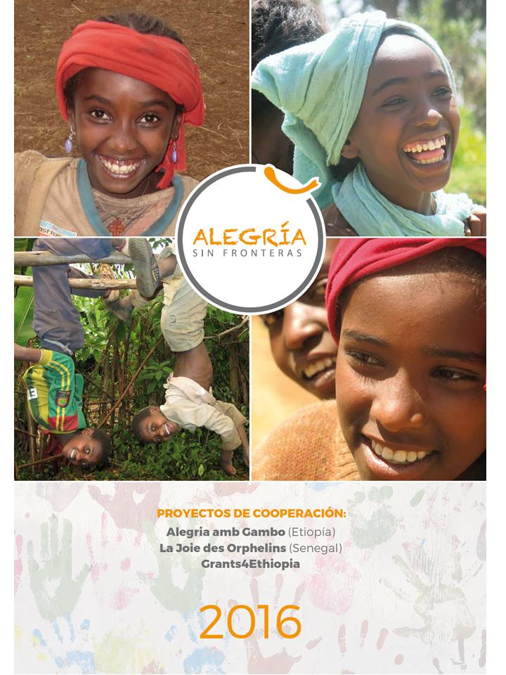 Calendario solidario ALEGRÍA SIN FRONTERAS alegria gambo alegria sin fronteras dr alegria etiopia gambo