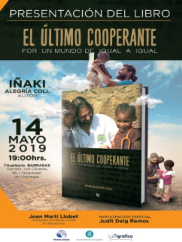 Presentación del nuevo libro en Hospitalet de Llobregat: día 14 de Mayo africa alegria gambo alegria sin fronteras dr alegria etiopia gambo