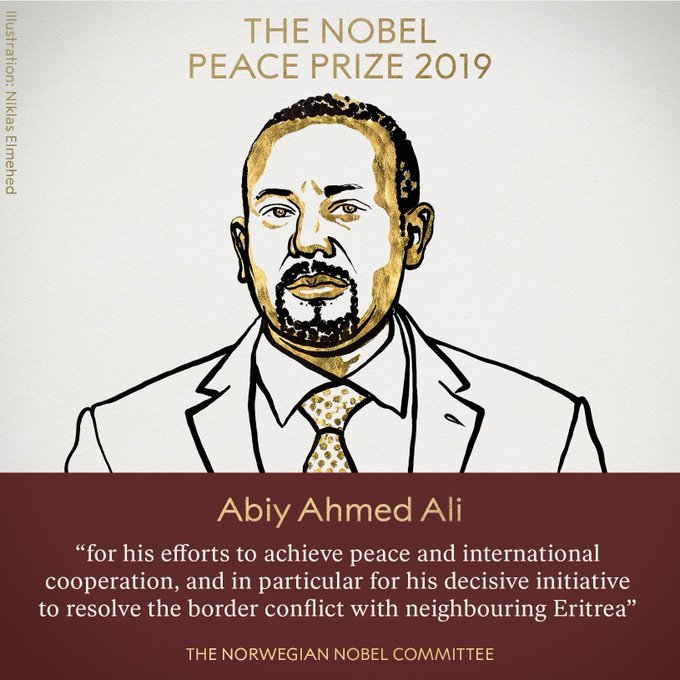 """For me, nurturing peace is like planting and growing trees"" Abiy Ahmed, Nobel Peace Prize Lecture africa"