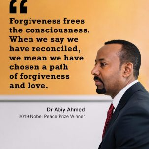 Let us strive to follow the greatest path, the path of love. Dr Abiy Ahmed. Prime Minister of Ethiopia. Nobel Peace Prize africa etiopia