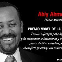 """""""Para mí, cultivar la paz es como plantar y cultivar árboles."""" Abiy Ahmed, Premio Nobel de la Paz"""