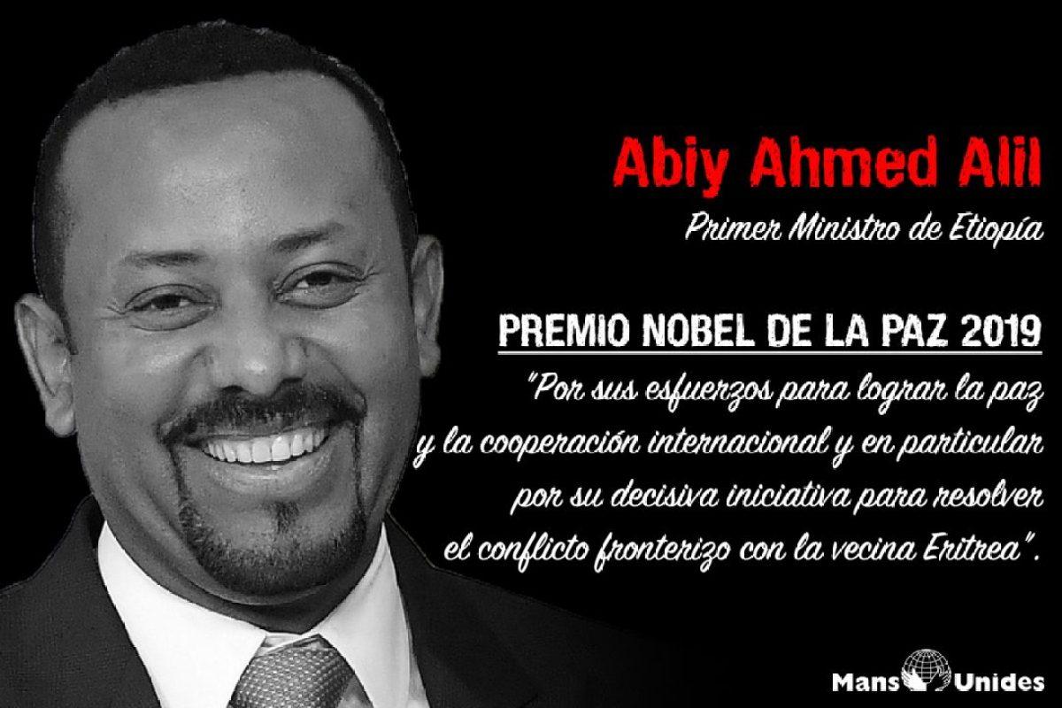 """""""Para mí, cultivar la paz es como plantar y cultivar árboles."""" Abiy Ahmed, Premio Nobel de la Paz africa"""