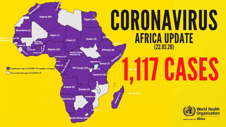 Coronavirus COVID 19 Africa Update africa