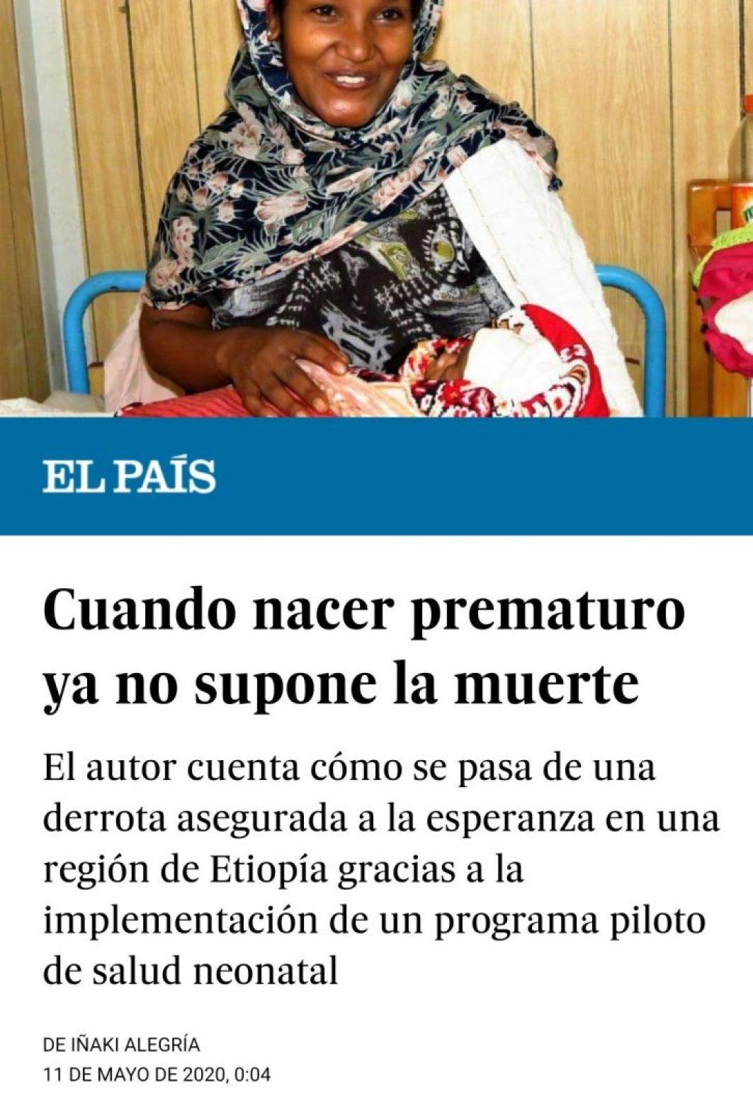 El País Planeta Futuro se hace eco de los avances del programa materno-infantil en Gambo, Etiopía africa dr alegria