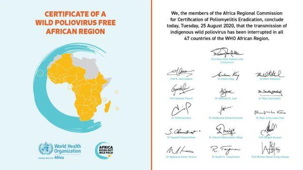 Día Histórico: África se declara LIBRE de POLIO africa