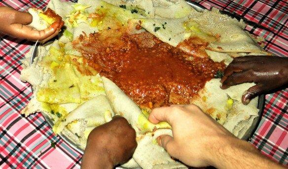 Receta Injera, el pan de Etiopía africa