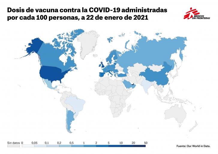 Los países ricos acaparan más de un 99% de las dosis de la vacuna de la COVID-19 actualidad coronavirus emergencias Vacuna Covid19