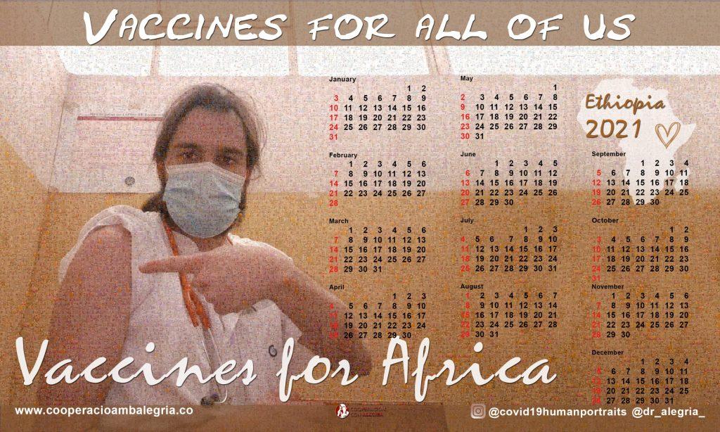 Calendario Vaccines for all of us 2021 #africavisiblec19 actualidad alegria dr alegria proyectos Vacuna Covid19