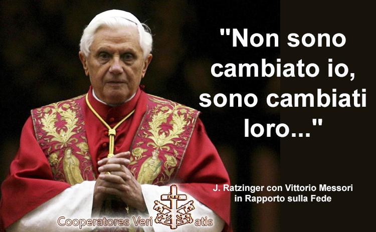 Raniero La Valle, Ratzinger e l'evoluzione del dogma