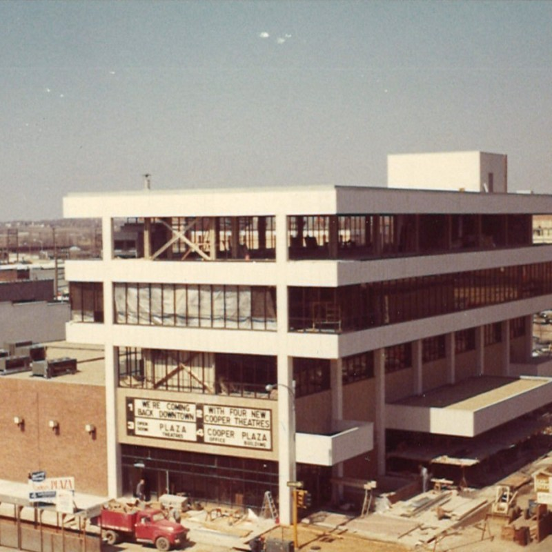 Cooper Plaza Theatres, Lincoln, NE. Building construction.