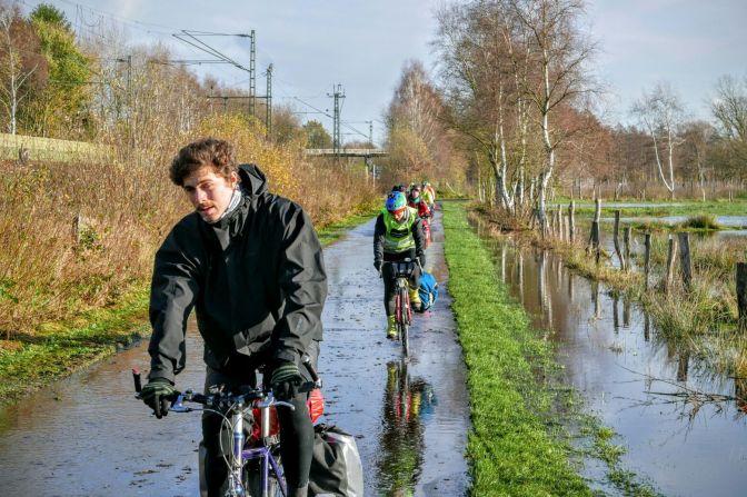 Flooded bike roads