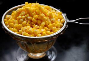 corn in a silver pot