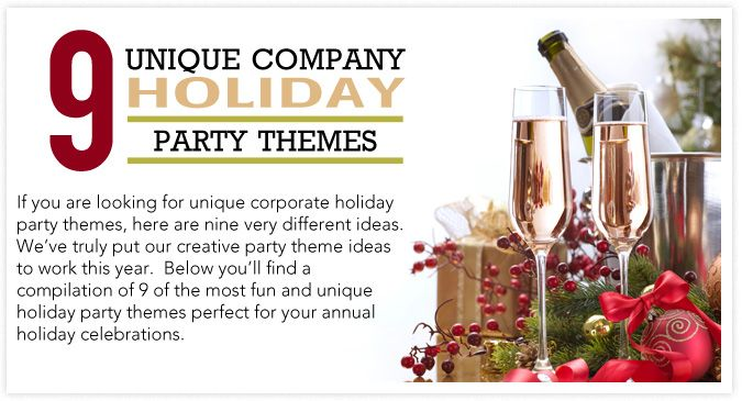 9 unique company holiday party themes cooper s catering