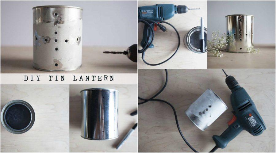 DIY Glimmering Tin Can Lanterns