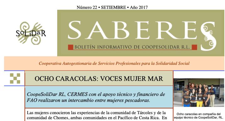 Boletín SABERES No 22 Año 2017