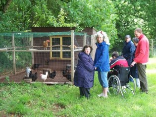 Sue liked the chickens at 'Growing for Life'! They loved it when she gave them some treats to eat and in return laid some beautiful eggs.