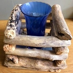 Driftwood container