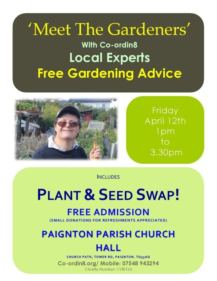 a poster for a plant swap in Paignton