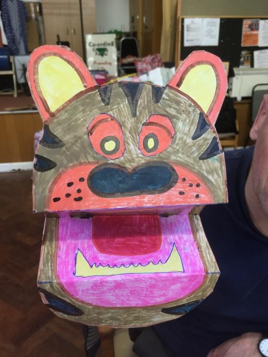 a tiger puppet
