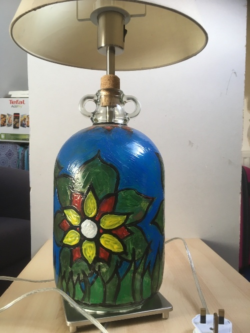 flower lampstand