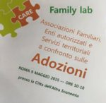 Family Lab Nazionale. Esperienze e confronto sull'adozione