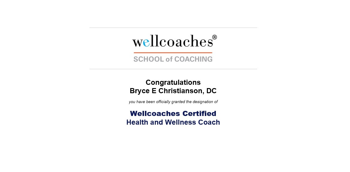 Wellcoaches Certification Chiropractor Grand Junction