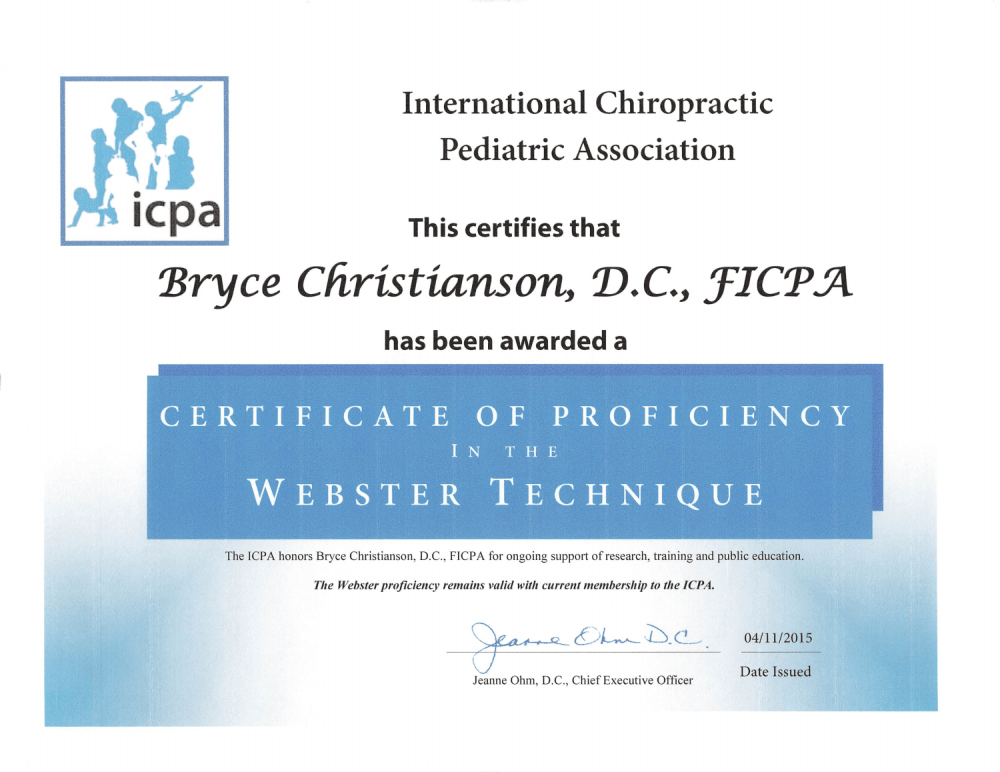 Webster Technique Pregnancy Chiropractic Grand Junction 2015