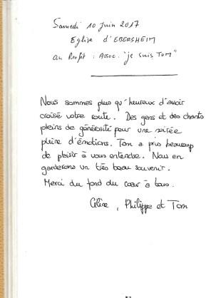 Céline, Philippe et Tom, 10.06.2017