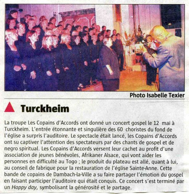 L'Alsace du 20 mai 2007