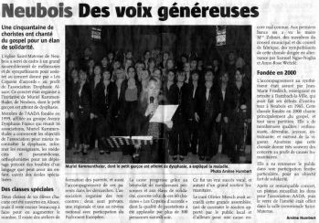 L'Alsace du 29 mai 2008