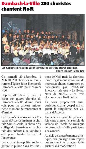 L'Alsace du 19 décembre 2008