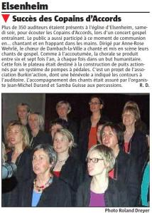 L'Alsace du 9 avril 2011
