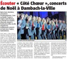 L'Alsace du 14 décembre 2012