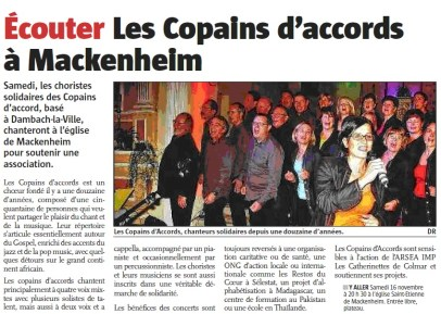 L'Alsace du 13 novembre 2013