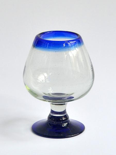 Cognac glass 7 oz - Cobalt blue rim Image