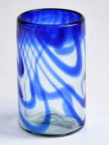Tumbler cobalt blue swirls
