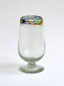 Water goblet confetti rim