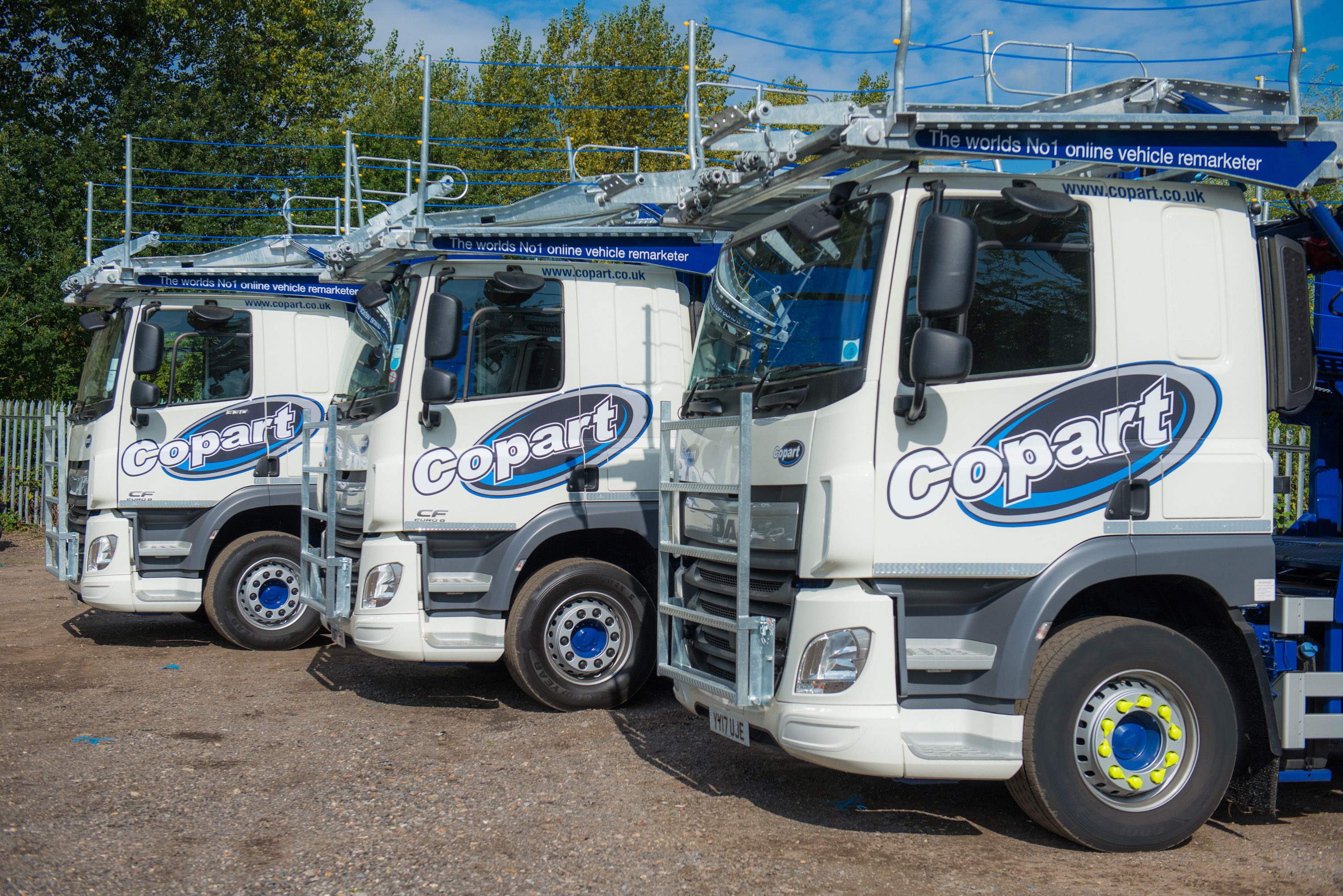 Copart UK Invests in 30 New DAF Salvage Transporters -