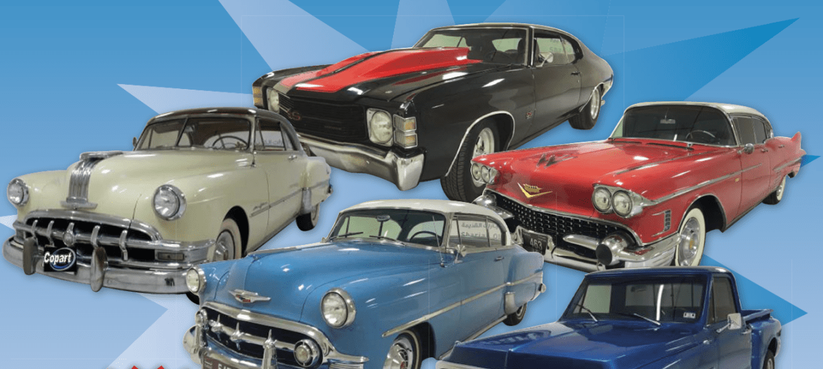 Classic Cars Available in Copart Middle East Auto Auction