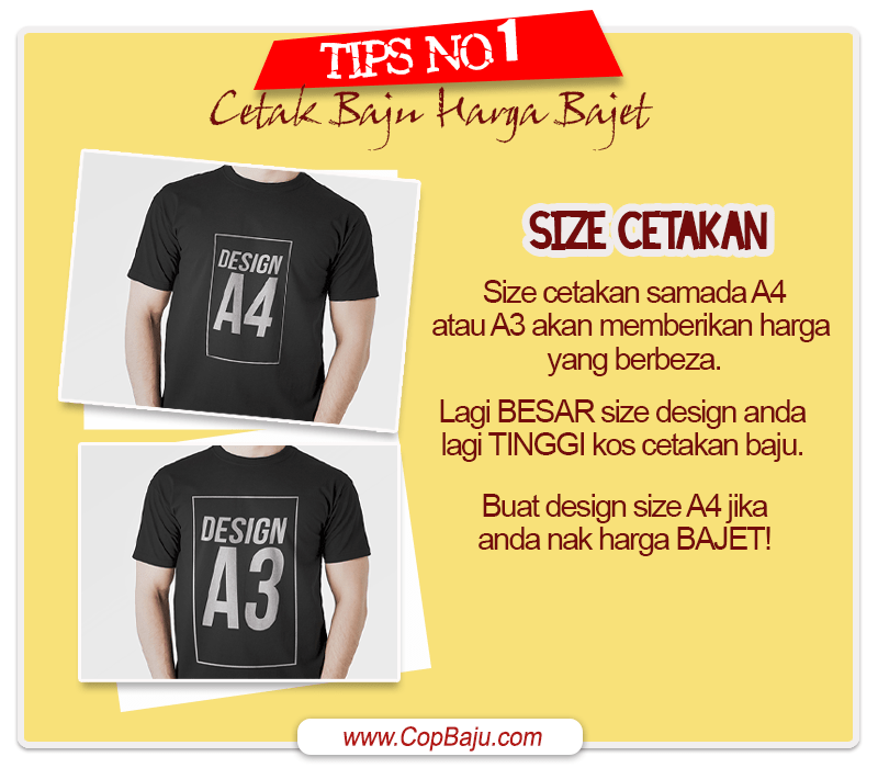 Copbaju - Tips Cetak Baju Tshirt Murah Bajet 01